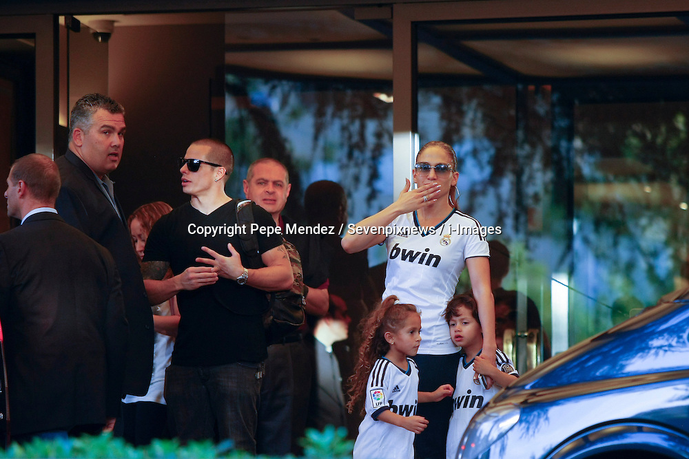 Jennifer Lopez walks with her children and her boyfriend Casper Smart in Madrid, Spain, October 7, 2012. photo by Pepe Mendez / Sevenpixnews / i-Images...SPAIN OUT