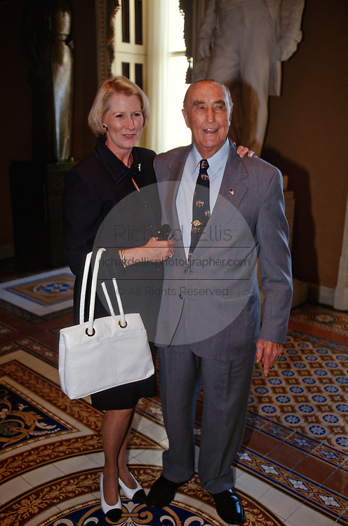 US Senator Strom Thurmond, 94, and his wife Nancy Moore celebrate his 41 years in the Senate, making him the longest serving Senator in history May 22, 1997 in Washington, DC.