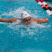 16 November 2017: The San Diego State women's swim team competes in the 2017 A3 Performance Invitational held at the SDSU Aquaplex. SDSU senior Alexa Clayfield competes in the 200 yard IM.<br /> www.sdsuaztecphotos.com