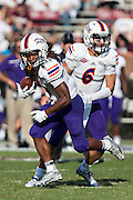 STARKVILLE, MS - SEPTEMBER 19:  Joel Blumenthal #6 hands off the ball to Daniel Taylor #4 of the Northwestern State Demons during a game against the Mississippi State Bulldogs at Davis Wade Stadium on September 19, 2015 in Starkville, Mississippi.  The Bulldogs defeated the Demons 62-13.  (Photo by Wesley Hitt/Getty Images) *** Local Caption *** Joel Blumenthal; Daniel Taylor