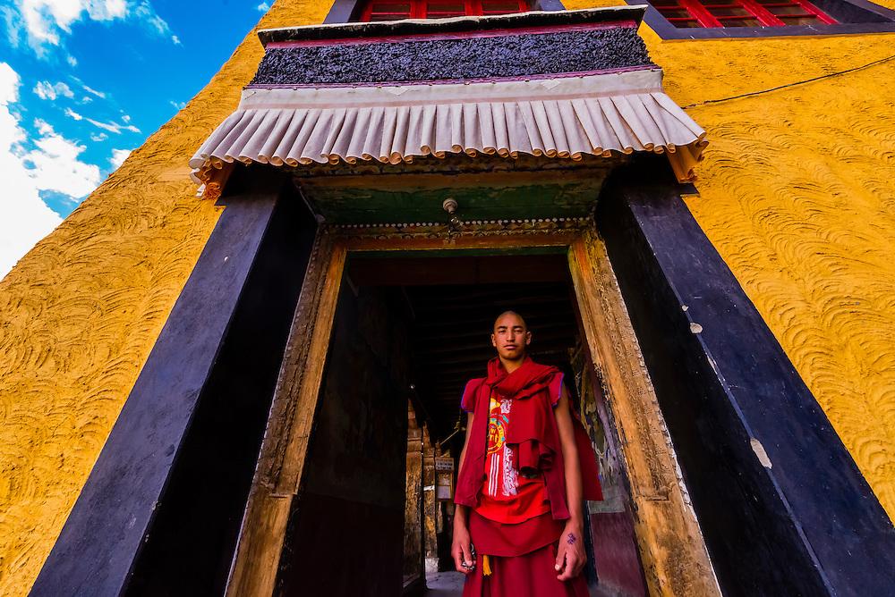 Thiksey Monastery, near Leh, Ladakh, Jammu and Kashmir State, India.