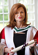 29/06/2012 .At the Honorary Confering ceremony in NUIGNew York Times Columnist Maureen Dowd who was conferred a degree of Doctor of Literature from NUIG.Photo:Andrew Downes. .