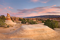 Evening light over Devils Garden, Grand Staircase Escalante National Monument Utah