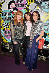 Left to right, CHARLOTTE TILBURY, BELLA FREUD and LUCY BIRLEY at Hoping's Greatest Hits - the 10th Anniversary of The Hoping Foundation's charity benefit held at Ronnie Scott's, 47 Frith Street, Soho, London on 16th June 2016.