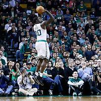 21 December 2012: Boston Celtics power forward Brandon Bass (30) takes a jumpshot during the Milwaukee Bucks 99-94 overtime victory over the Boston Celtics at the TD Garden, Boston, Massachusetts, USA.