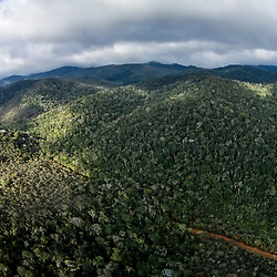 """Aérea Floresta (Paisagem) fotografado em Santa Teresa, Espírito Santo -  Sudeste do Brasil. Bioma Mata Atlântica. Registro feito em 2016.<br /> <br /> <br /> <br /> ENGLISH: Forest aerial photographed  in Santa Teresa, Espírito Santo - Southeast of Brazil. Atlantic Forest Biome. Picture made in 2016."""
