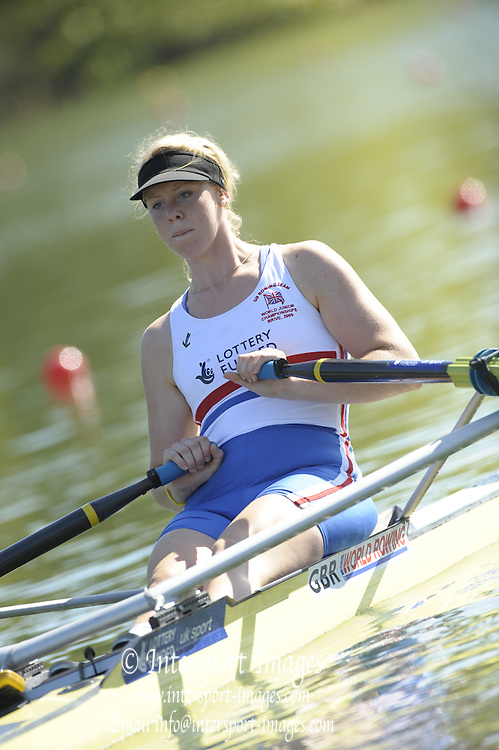 Brive, FRANCE,  GBR JW1X, Rachel GANBLE-FLINT. At the start,  2009 FISA Junior World Rowing Championships,  Brive La GAILLARDE. Wednesday 05/08/2009 [Mandatory Credit. Peter Spurrier/Intersport Images]