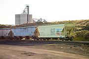 Grain train on the Umatilla River