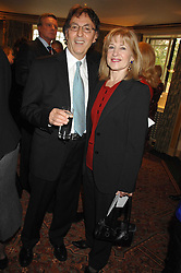 DON BLACK Oscar winning lyricist and his wife SHIRLEY at a tribute lunch for Elaine Paige hosted by the Lady Taverners at The Dorchester, Park Lane, London on 13th November 2007.<br /><br />NON EXCLUSIVE - WORLD RIGHTS