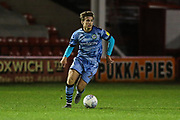 Forest Green Rovers Kyle Taylor(28),on loan from Bournemouth runs forward during the EFL Trophy match between Walsall and Forest Green Rovers at the Banks's Stadium, Walsall, England on 12 November 2019.