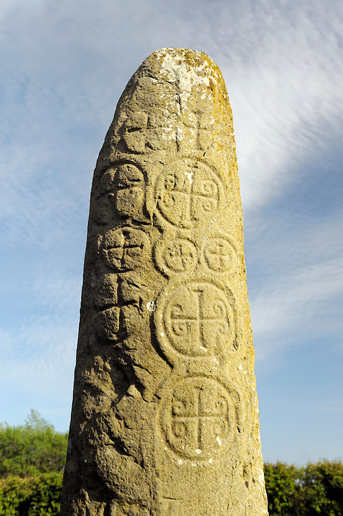 Kilnasaggart Pillar Stone in the early Celtic Christian monastic site near Jonesboro, County Armagh, Northern Ireland, UK