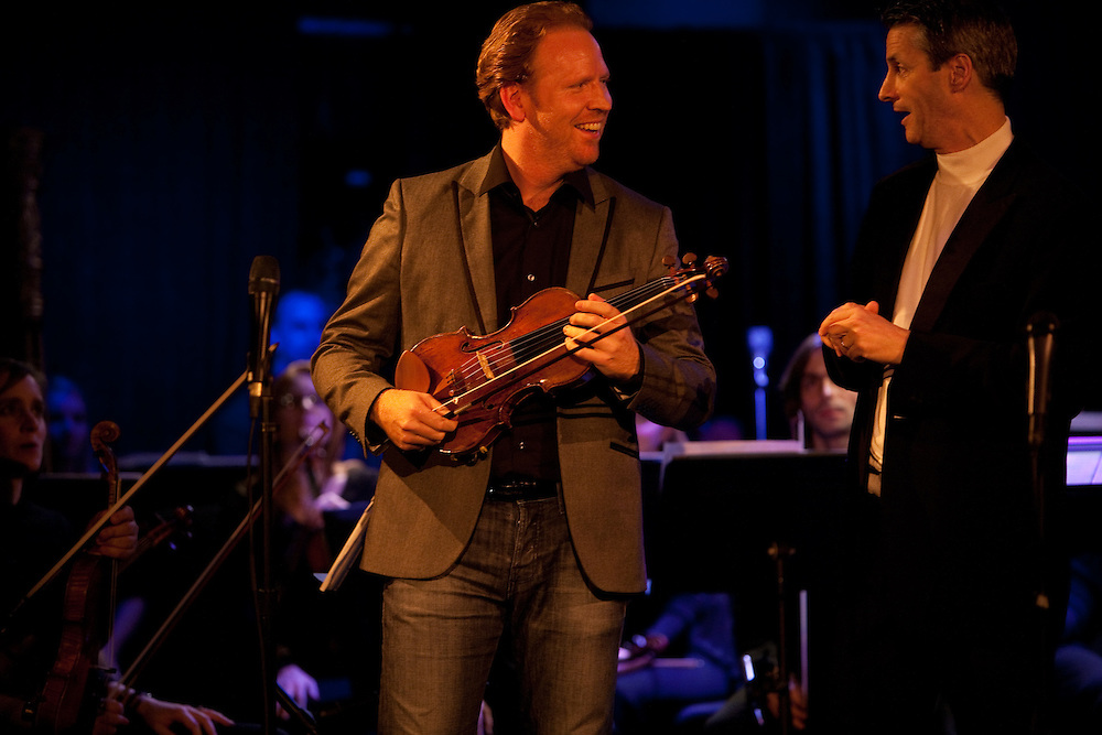Violinist Daniel Hope before performing at Le Poisson Rouge on October 24, 2011.
