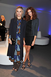 Left to right, LAURA BAILEY and TAMSIN EGERTON at the Vogue Festival 2012 in association with Vertu held at the Royal Geographical Society, London on 20th April 2012.