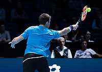 Tennis - 2017 Nitto ATP Finals at The O2 - Day One<br /> <br /> Mens Doubles: Group Eltingh/Haarhus: Henri Kontinen (Finland) & John Peers (Australia) Vs Ryan Harrison (United States) & Michael Venus (Australia)<br /> <br /> <br /> <br /> COLORSPORT/DANIEL BEARHAM