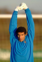 Photo: Glyn Thomas.<br />England Training. 09/11/2005.<br />England's David James in training.