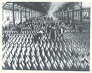 World War  1914-1919: British women working in an armaments factory.