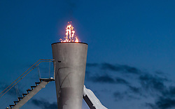 13.03.2018, Lysgards Schanze, Lillehammer, NOR, FIS Weltcup Ski Sprung, Raw Air, Lillehammer, im Bild Olympisches Feuer // Olympic Flame during the 2nd Stage of the Raw Air Series of FIS Ski Jumping World Cup at the Lysgards Schanze in Lillehammer, Norway on 2018/03/13. EXPA Pictures © 2018, PhotoCredit: EXPA/ JFK