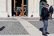 Roma 16 Marzo2013.Montecitorio, secondo giorno della  XVII legislatura..Cambio della Guardia.