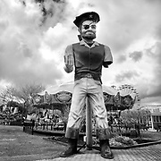 I made this image at the Jolly Roger Amusement Park before the park opened for the season. <br />
