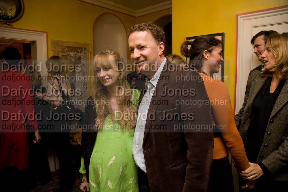 CLEMENTINE FRASER; ORLANDO FRASER, Book launch for American's in Paris by Charles Glass hosted by Lady Annabel Lindsay. Holland Park. London. 25 March 2009 *** Local Caption *** -DO NOT ARCHIVE-© Copyright Photograph by Dafydd Jones. 248 Clapham Rd. London SW9 0PZ. Tel 0207 820 0771. www.dafjones.com.<br /> CLEMENTINE FRASER; ORLANDO FRASER, Book launch for American's in Paris by Charles Glass hosted by Lady Annabel Lindsay. Holland Park. London. 25 March 2009