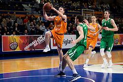 Jure Mocnik of KK Helios Suns during basketball match between KK Helios Suns and KK Petrol Olimpija in Playoffs of Liga Nova KBM 2017/18, on March 26, 2018 in Hala Kominalnega Centra, Domzale, Slovenia. Photo by Urban Urbanc / Sportida