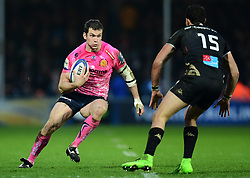 Ian Whitten of Exeter Chiefs makes a break - Mandatory by-line: Alex Davidson/JMP - 13/01/2018 - RUGBY - Sandy Park Stadium - Exeter, England - Exeter Chiefs v Montpellier - European Rugby Champions Cup