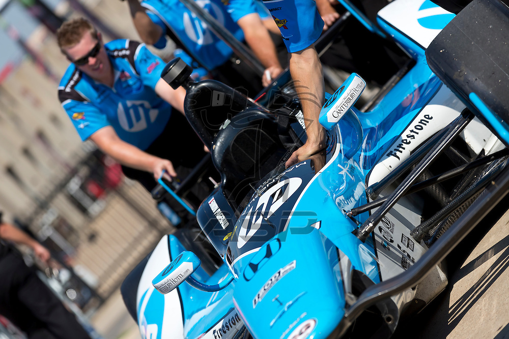 Ft WORTH, TX - JUN 08, 2012:  Simon Pagenaud (77) prepares to qualify for the Firestone 550 race at the Texas Motor Speedway in Fort Worth, TX.