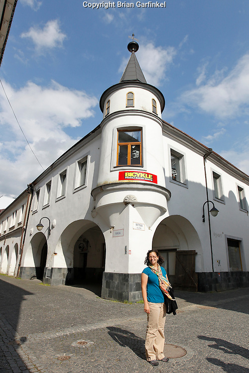 Kate in the main square in Zilina, Slovakia on Saturday July 2nd 2011. (Photo by Brian Garfinkel)