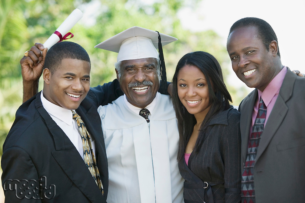 Graduate with Sons and Daughter