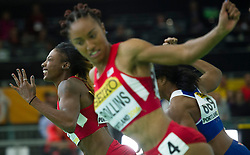 Nia Ali(1st, L) of the United States competes in the Wemen's 60 metres hurdles final during day two of the IAAF World Indoor Championships at Oregon Convention Center in Portland, Oregon, the United States, on March 18, 2016. EXPA Pictures © 2016, PhotoCredit: EXPA/ Photoshot/ Yang Lei From Chongqing<br /> <br /> *****ATTENTION - for AUT, SLO, CRO, SRB, BIH, MAZ, SUI only*****