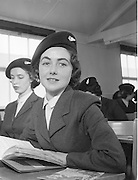 18/02/1958.02/18/1962.18 February 1958.Aer Lingus special Air Hostesses at Dublin Airport