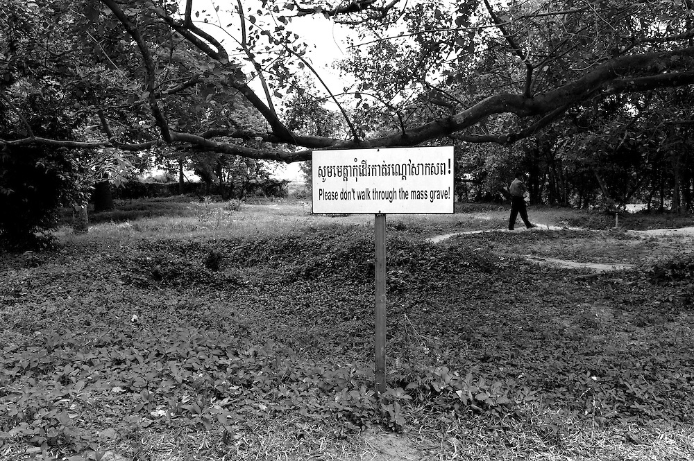 """The Tuol Sleng Genocide Museum, the former high school which was used as the notorious Security Prison 21 (S-21) by the Khmer Rouge regime from its rise to power in 1975 to its fall in 1979. Tuol Sleng (Khmer [tu?l slae?]) means """"Hill of the Poisonous Trees"""" or """"Strychnine  Hill"""".For the first year of S-21's existence, corpses were buried near the prison. However, by the end of 1979, cadres ran out of burial spaces, the prisoner and their family were taken to the Choeung Ek extermination centre, fifteen kilometers from Phnom Penh."""