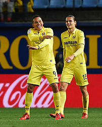 January 27, 2018 - Vila-Real, Castellon, Spain - Carlos Bacca of Villarreal CF celebrates a goal during the La Liga match between Villarreal CF and Levante Union Deportiva, at Estadio de la Ceramica, on January 26, 2018 in Vila-real, Spain  (Credit Image: © Maria Jose Segovia/NurPhoto via ZUMA Press)