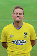 AFC Wimbledon manager Neal Ardley at AFC Wimbledon Team Photo 02AUG16 at the Cherry Red Records Stadium, Kingston, England on 2 August 2016. Photo by Stuart Butcher.