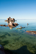 Isla Espiritu Santo, Baja - Kayaking Photos - Stock images
