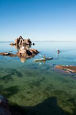 Isla Espiritu Santo, Baja - Kayaking Photos - Stock images