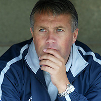 St Johnstone v Leicester City..24.07.04 (Friendly) <br />Leicester manager Mick Adams in thoughtful mood<br /><br />Picture by Graeme Hart.<br />Copyright Perthshire Picture Agency<br />Tel: 01738 623350  Mobile: 07990 594431