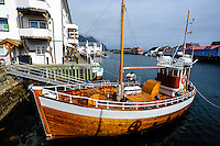 Norway, Lofoten. Henningsvær is a fishing village on the southern tip of Austvågøya.