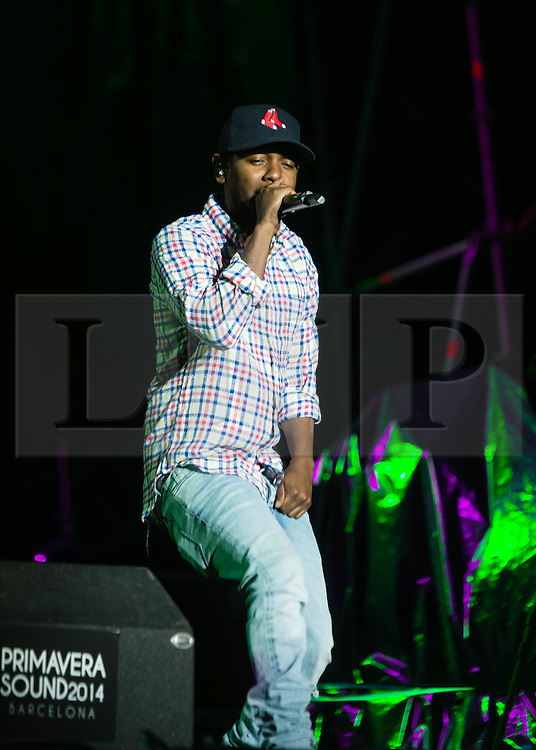© Licensed to London News Pictures. 31/05/2014. Barcelona, Spain.   Kendrick Lamar performing live at Primavera Sound festival.   Kendrick Lamar is an American hip hop recording artist.  Primavera Sound, or simply Primavera, is an annual music festival that takes place in Barcelona, Spain in late May/June within the Parc del Fòrum leisure site. Photo credit : Richard Isaac/LNP