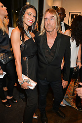 IGGY POP and NINA ALU at a party to celebrate the launch of the first European John Varvatos Store, 12-13 Conduit Street, London held on 3rd September 2014.