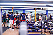 Squadra, Matteo Panichi<br /> Raduno Nazionale Maschile Senior<br /> Allenamento mattina, sala pesi<br /> Cagliari, 02/08/2017<br /> Foto Ciamillo-Castoria/ M. Brondi