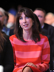 © Licensed to London News Pictures. 05/10/2011. MANCHESTER. UK. Samantha Cameron watchers her husband British Prime Minister David cameron deliver his end of conference speech at The Conservative Party Conference at Manchester Central today, October 5, 2011. Photo credit:  Stephen Simpson/LNP