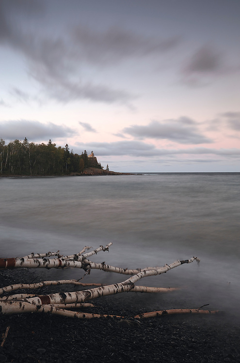Sunrise at Lake Superior, Split Rock Lighthouse State Park, North Shore, Minnesota, USA