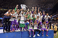 Real Madrid players celebrate the winning of the Champions League during the UEFA Champions League Final match between Real Madrid and Juventus at the National Stadium of Wales, Cardiff, Wales on 3 June 2017. Photo by Giuseppe Maffia.<br /> <br /> Giuseppe Maffia/UK Sports Pics Ltd/Alterphotos