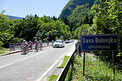 Cyclists during 3rd Stage (219 km) at 19th Tour de Slovenie 2012, on June 16, 2012, in Bohinjska Bistrica, Slovenia. (Photo by Matic Klansek Velej / Sportida.com)
