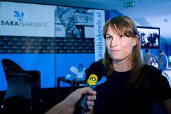 Press conference of Slovenian swimmer Sara Isakovic, on June 23, 2009, in Atlantis, BTC, Ljubljana, Slovenia. (Photo by Vid Ponikvar / Sportida)