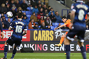 Kevin Bru, Ipswich Town midfielder scores the opening goal during the Sky Bet Championship match between Bolton Wanderers and Ipswich Town at the Macron Stadium, Bolton, England on 8 March 2016. Photo by Simon Brady.