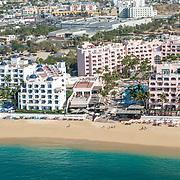 Aerial View of Pueblo Bonito hotels in Cabo San Lucas.