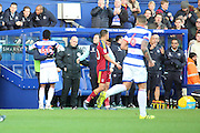 Queens Park Rangers forward Idrissa Sylla (40) celebrating with the bench after scoring 1-0 during the EFL Sky Bet Championship match between Queens Park Rangers and Ipswich Town at the Loftus Road Stadium, London, England on 2 January 2017. Photo by Matthew Redman.