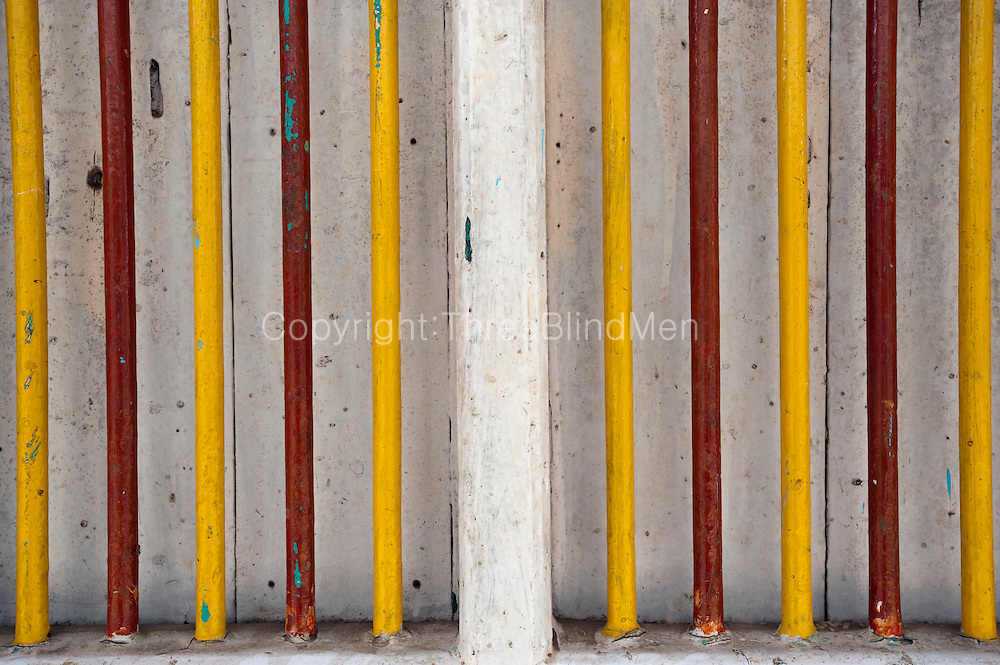 Colour & Detail. Wall of home in Nagapattinam..Vernacular Architecture. South India.